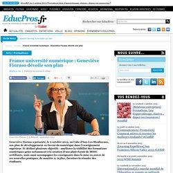 France université numérique : Geneviève Fioraso dévoile son plan
