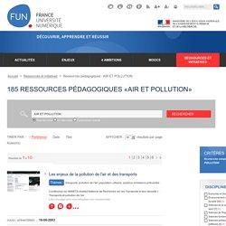 185 Ressources pédagogiques «AIR ET POLLUTION»