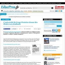 L'université de Cergy-Pontoise donne des iPads à ses étudiants