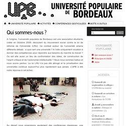 Qui sommes-nous ? - Université Populaire de Bordeaux