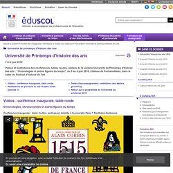 Université de printemps d'histoire des arts - Université d'histoire des arts, 2016