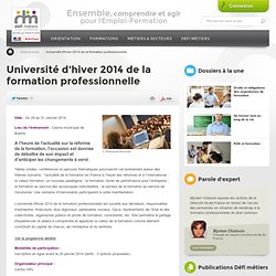 Université d'hiver 2014 de la formation professionnelle