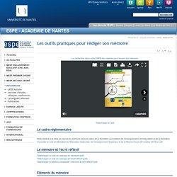 Université de Nantes - École supérieure du Professorat et de l'Education (ESPE) - Les outils pratiques pour rédiger son mémoire