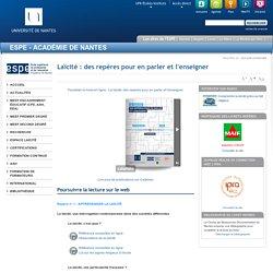 Université de Nantes - École supérieure du Professorat et de l'Education (ESPE) - Laïcité : des repères pour en parler et l'enseigner