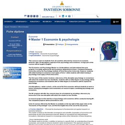 Master 1 Economie & psychologie