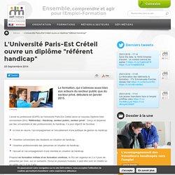 """L'Université Paris-Est Créteil ouvre un diplôme """"référent handicap"""""""