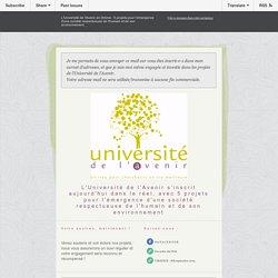 Université de l'Avenir : 5 projets pour l'émergence d'une société respectueuse