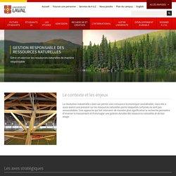 Université Laval: Gestion responsable des ressources naturelles