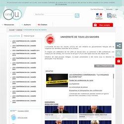 Université de tous les savoirs - Chaînes - Canal-U