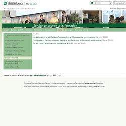 Portfolio: Service de soutien à la formation