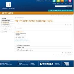 Université de Nantes - Sociologie - FRE 3706 centre nantais de sociologie (CENS)