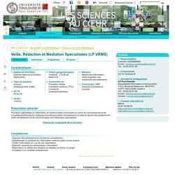 Université Toulouse III - Paul Sabatier - Veille, Rédaction et Médiation Spécialisées (LP VRMS)