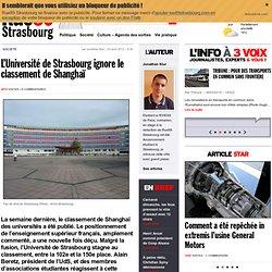 L'Université de Strasbourg ignore le classement de Shanghaï