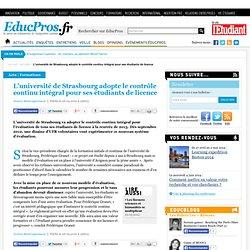 L'université de Strasbourg adopte le contrôle continu intégral pour ses étudiants de licence