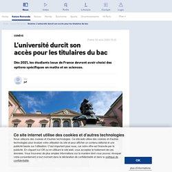 Genève: L'université durcit son accès pour les titulaires du bac - 20 minutes