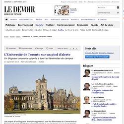 L'Université de Toronto sur un pied d'alerte