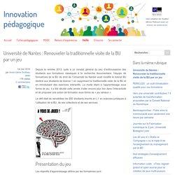 Université de Nantes : Renouveler la traditionnelle visite de la BU par un jeu