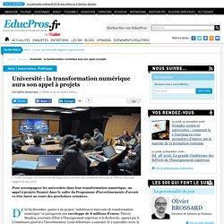 Université : la transformation numérique aura son appel à projets