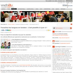 Travaillez les langues en tandem : c'est possible à Lyon 2 !