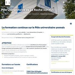 Université de Nantes - IUT La Roche-sur-Yon - La formation continue sur le Pôle universitaire yonnais