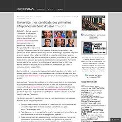 Université : les candidats des primaires citoyennes au banc d'essai « UNIVERSITAS