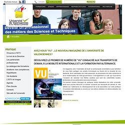 """Avez-vous """"VU"""" ... le nouveau magazine de l'Université de Valenciennes?"""