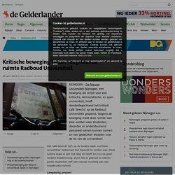 Kritische beweging De Nieuwe Universiteit 'bezet' leegstaande ruimte Radboud Universiteit Nijmegen