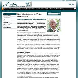 Kees Schuyt benoemd als tweede wisselleerstoelhouder prof.dr. J.A.A. van Doornleerstoel