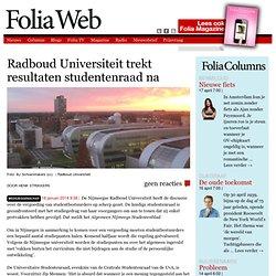 foliaweb: Radboud Universiteit trekt resultaten studentenraad na
