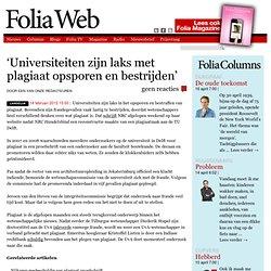 'Universiteiten zijn laks met plagiaat opsporen en bestrijden