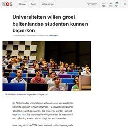 11-05-2018 NOS Universiteiten willen groei buitenlandse studenten kunnen beperken
