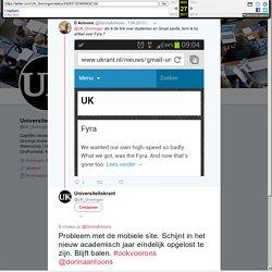 """Universiteitskrant в Twitter: """"Probleem met de mobiele site. Schijnt in het nieuw academisch jaar eíndelijk opgelost te zijn. Blijft balen. #ookvoorons @dorinaantoons"""""""