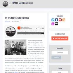 Afl 78: Universiteitsmedia