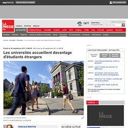 Les universités accueillent davantage d'étudiants étrangers