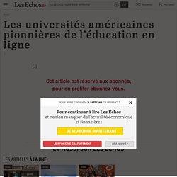 Les universités américaines pionnières del'éducation en ligne