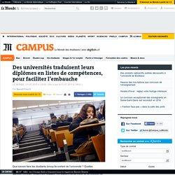 Des universités traduisent leurs diplômes en listes de compétences, pour faciliter l'embauche