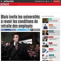 Blais invite les universités à revoir les conditions de retraite des employés