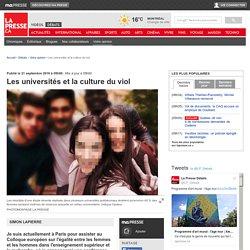 Les universités et la culture du viol