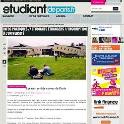 Les universités autour de Paris
