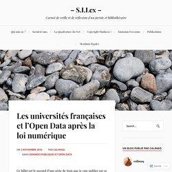 Les universités françaises et l'Open Data après la loi numérique – – S.I.Lex –