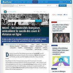 MOOC: les Universités françaises embrassent le succès des cours à distance en ligne
