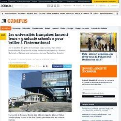 Les universités françaises lancent leurs «graduate schools» pour briller à l'international