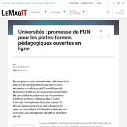 Universités : promesse de FUN pour les plates-formes pédagogiques ouvertes en ligne