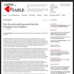 Oui, les universités peuvent être des tremplins vers l'emploi !