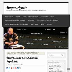 Brève histoire des Universités Populaires