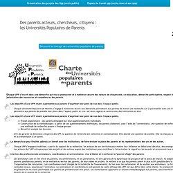 Charte des Universités populaires des parents