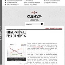Universités: le prix du mépris