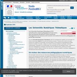 UNT - Universités Numériques Thématiques