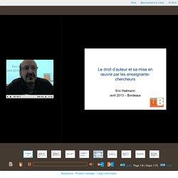 Visualisation de l'enregistrementLes aspects juridiques de la mise en ligne des documents numériques
