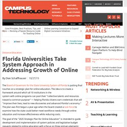 Florida Universities Take System Approach in Addressing Growth of Online